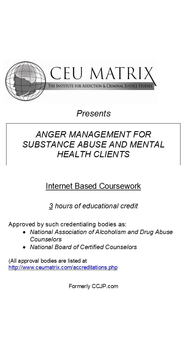 Anger Management for Substance Abuse and Mental Health Clients (3 ...